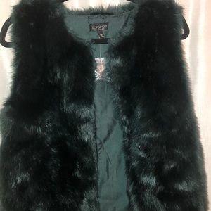 Faux Fur Vest Topshop